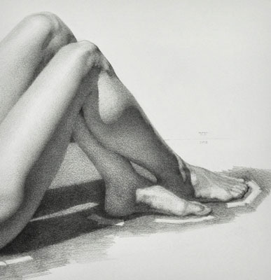 Brittany Reclining Nude - Detail