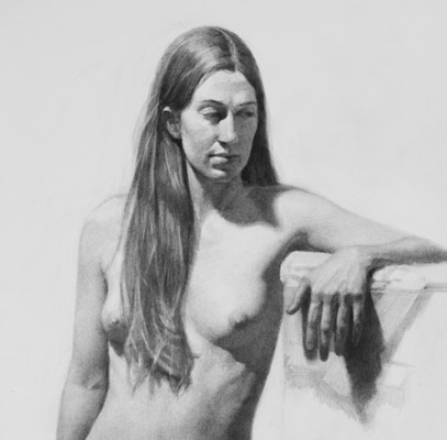 Drawing of Rebecca - Standing Pose - Detail