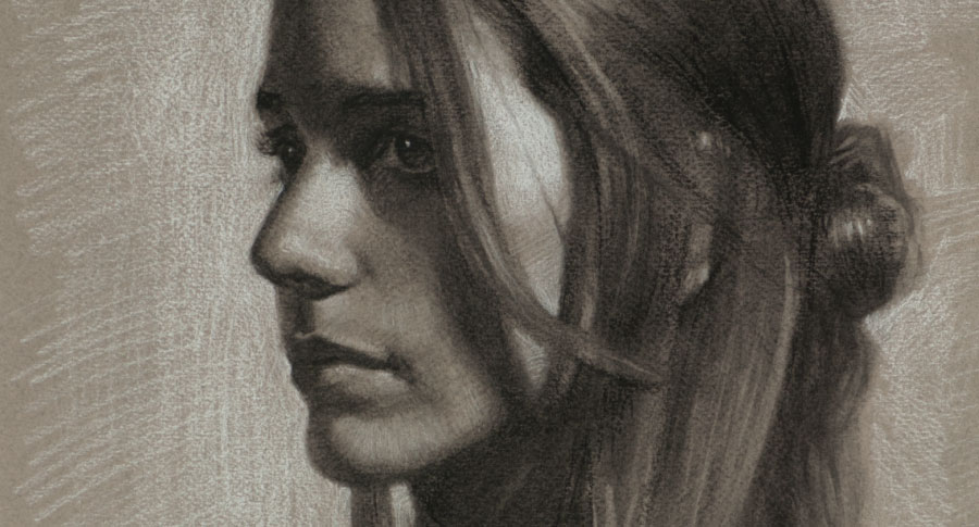 Drawing of Marianna (detail)