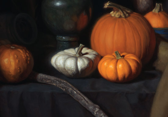 Pumpkins Still Life - Detail