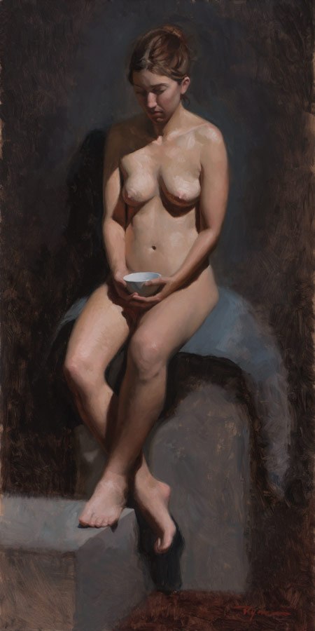 Rebecca Nude Study with Bowl