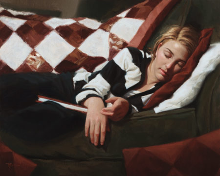Taylor (Sleep), Oil on Canvas, by Ryan Frederickson
