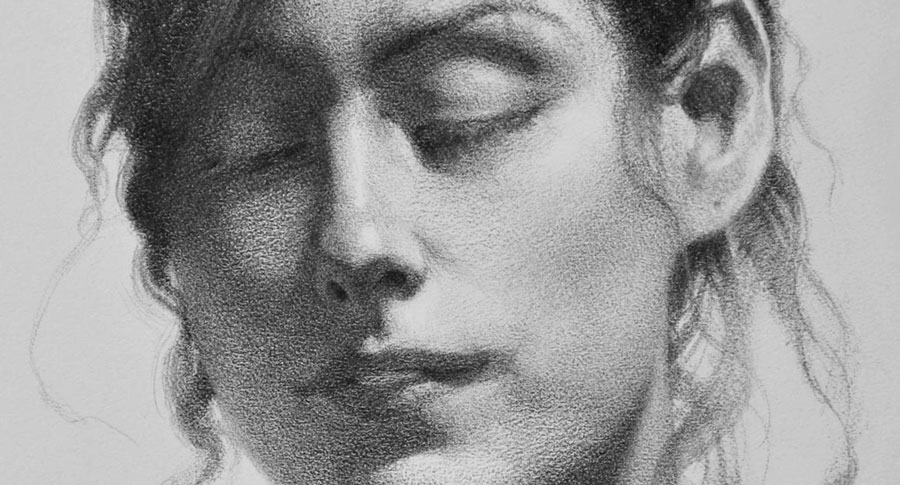 Therese Portrait Drawing - Detail